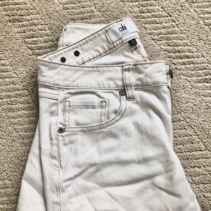 Cabi off-white distressed jeans